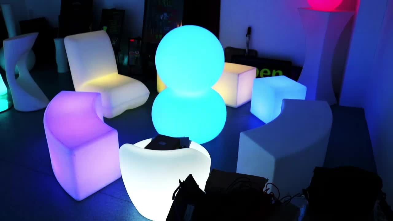 Kleur veranderende 40x40x40 tuin led kubus kubussen stoel licht 40 cm