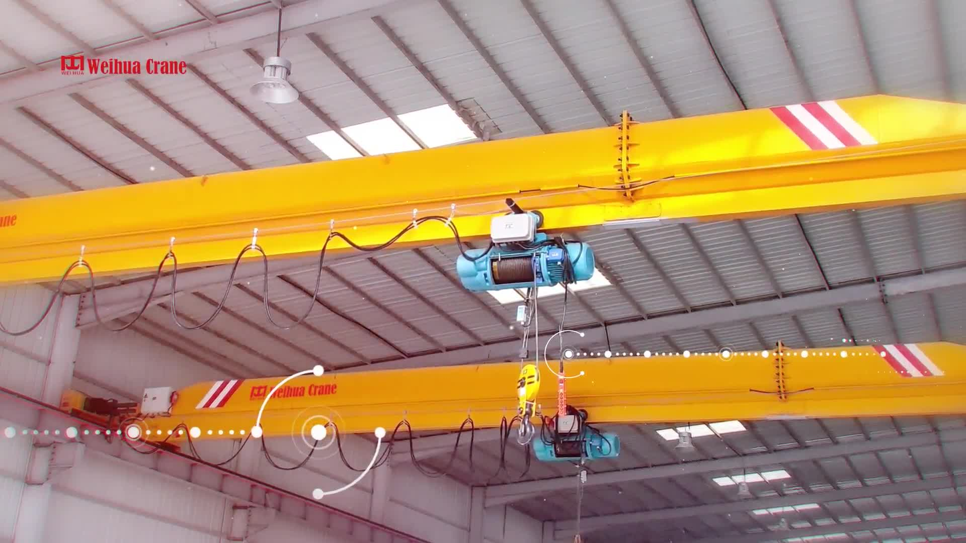 WEIHUA Overhead Crane Double Speed 1t Wire Rope Electric Hoist Lifting height 5m
