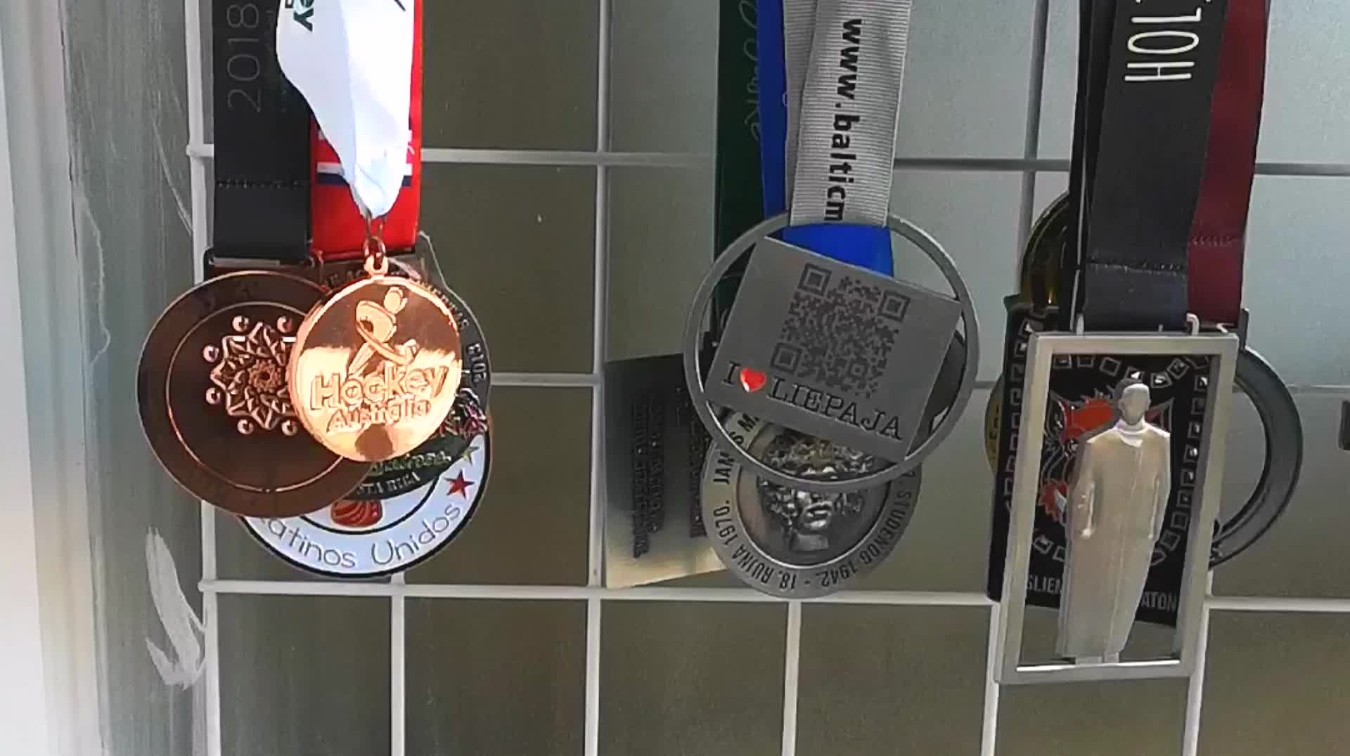 Custom Made Personalized Bike Wheel Shaped Cycle Metal Award Medals