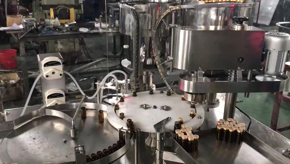 Full Automatic glass vial bottle filling and capping machine
