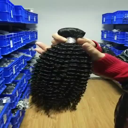8A kinky curl raw temple cuticle aligned virgin brazilian cambodian indian hair human extension