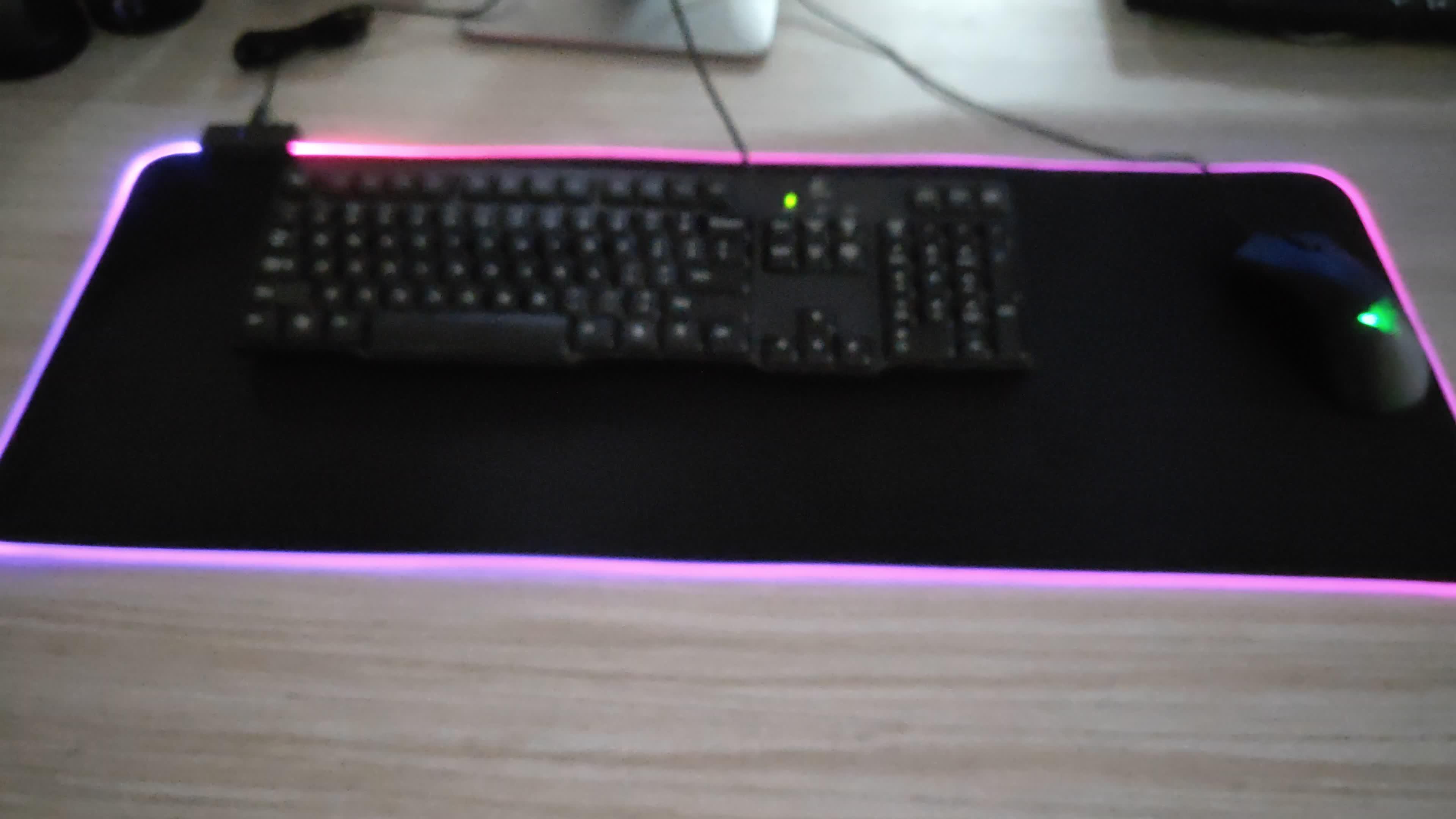 Produttori di Illuminazione RGB HA CONDOTTO Il Mouse Pad Da Gioco personalizzate, Incandescente Led Mousepad, base In Gomma Antiscivolo Tastiera Del Computer pad Mat