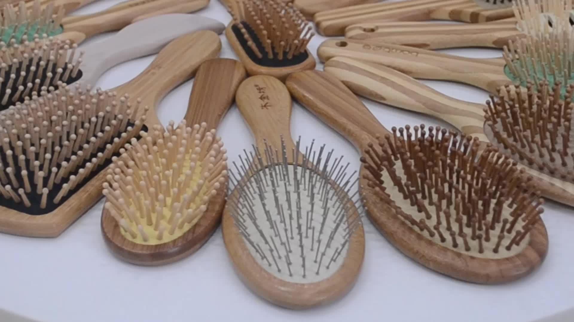 Top produits pour vendre sur amazon Écologique bambou cheveux brosse tek