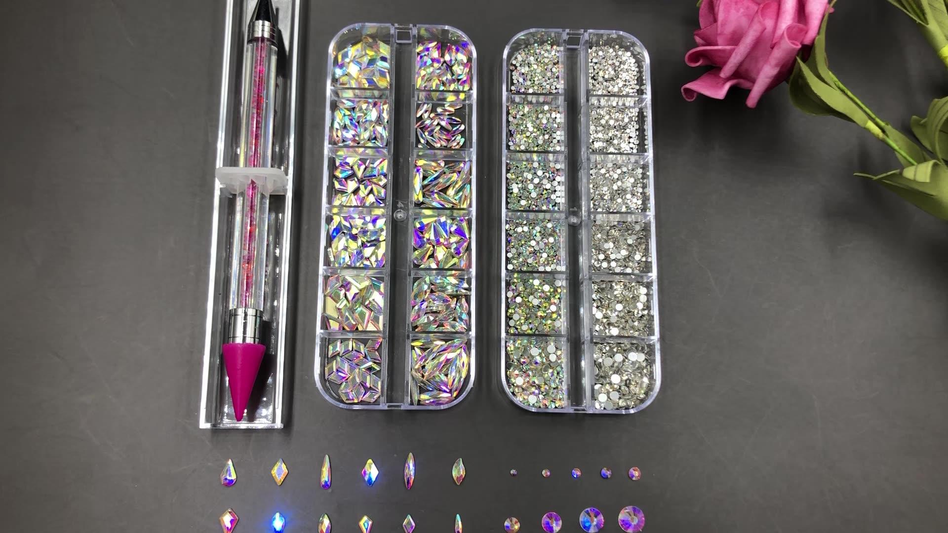 Wholesale Nail Art Bulk Non Hotfix Flatback Crystal For Clothes Custom K9 Shape Rhinestone