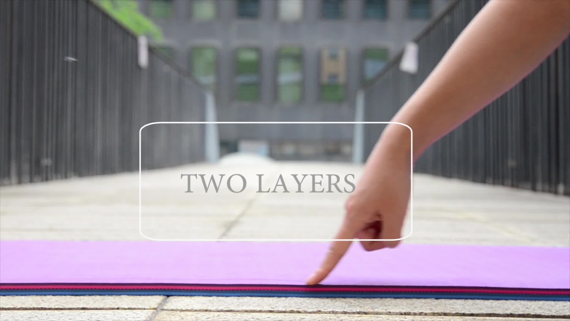 Eco Friendly Printed Double Layer Exercise Mat TPE Yoga Mat For Yoga Exercise Meditation
