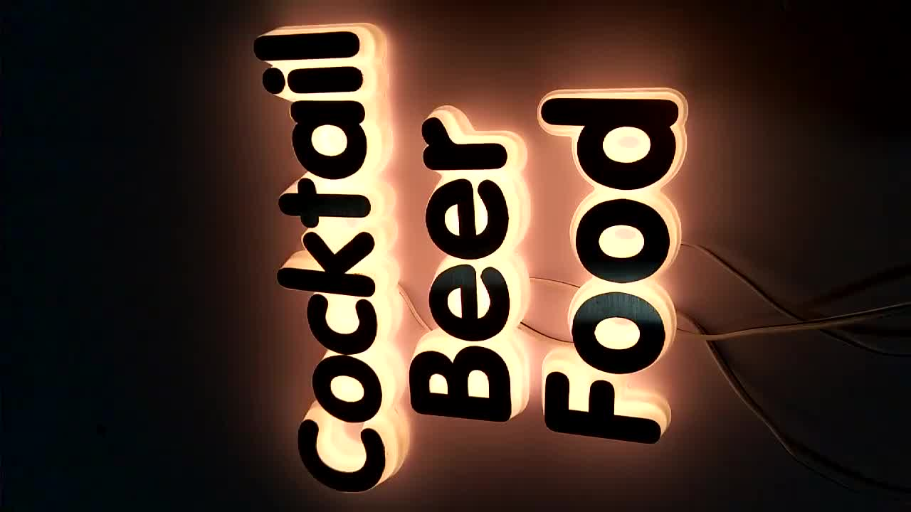 Custom Lighting Decoration Letters For Sale Sign For Advertising