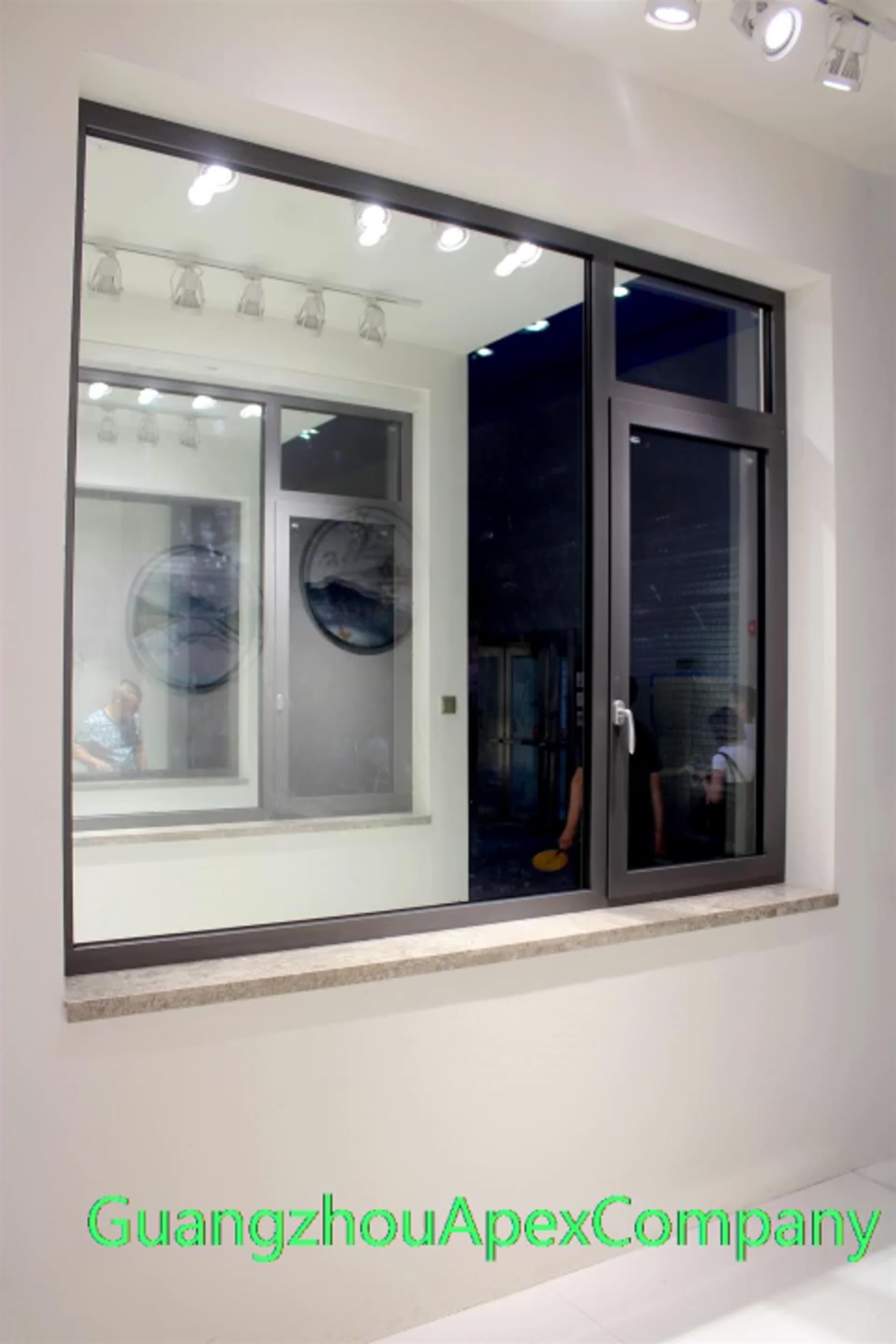 Villa venster ontwerp roosters franse aluminium frame