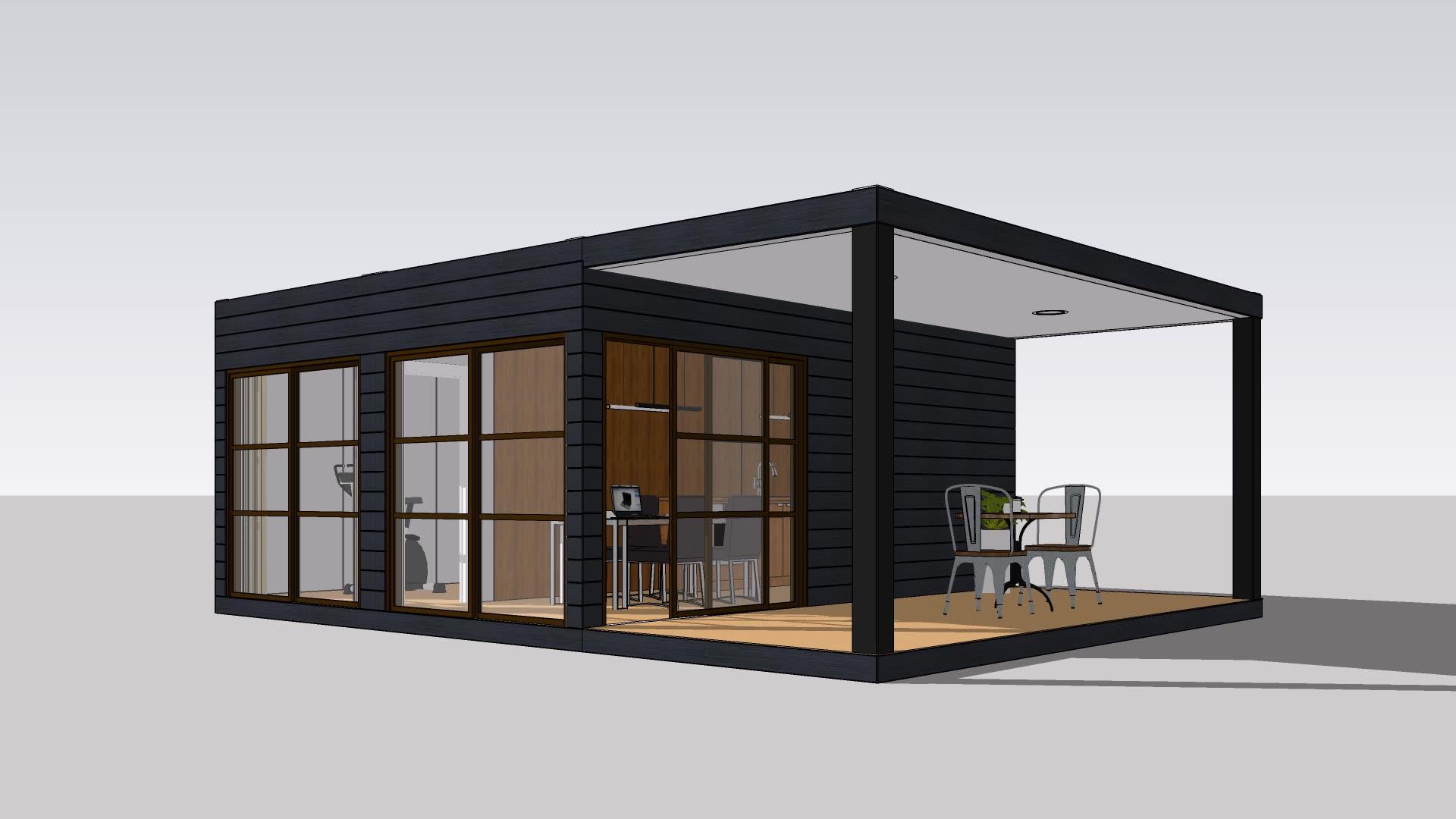 UPS-proyectos de construcción de alta tecnología eco fertighaus, casa prefabricada contemporánea, contenedor para el hogar