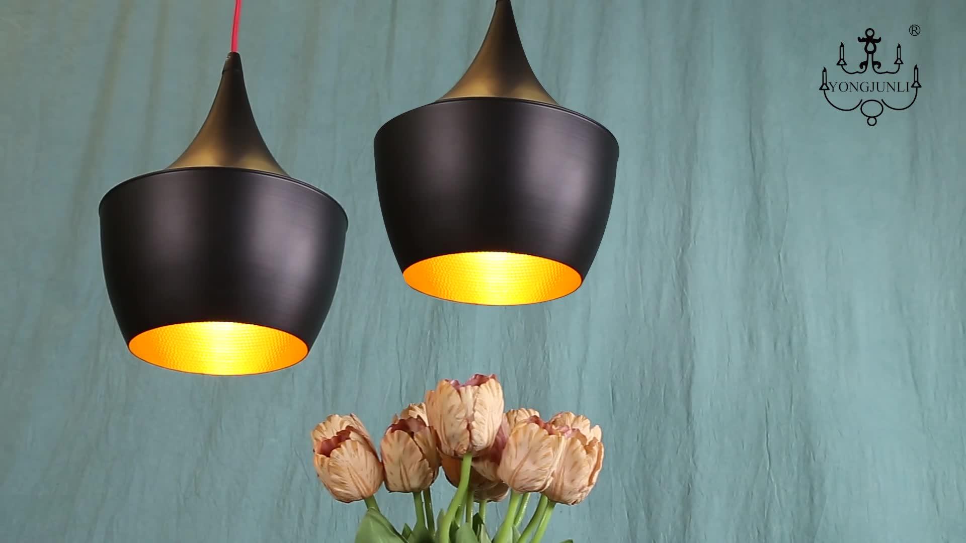 Klassieke moderne enkele unieke vintage opknoping armatuur kroonluchter led hanglamp