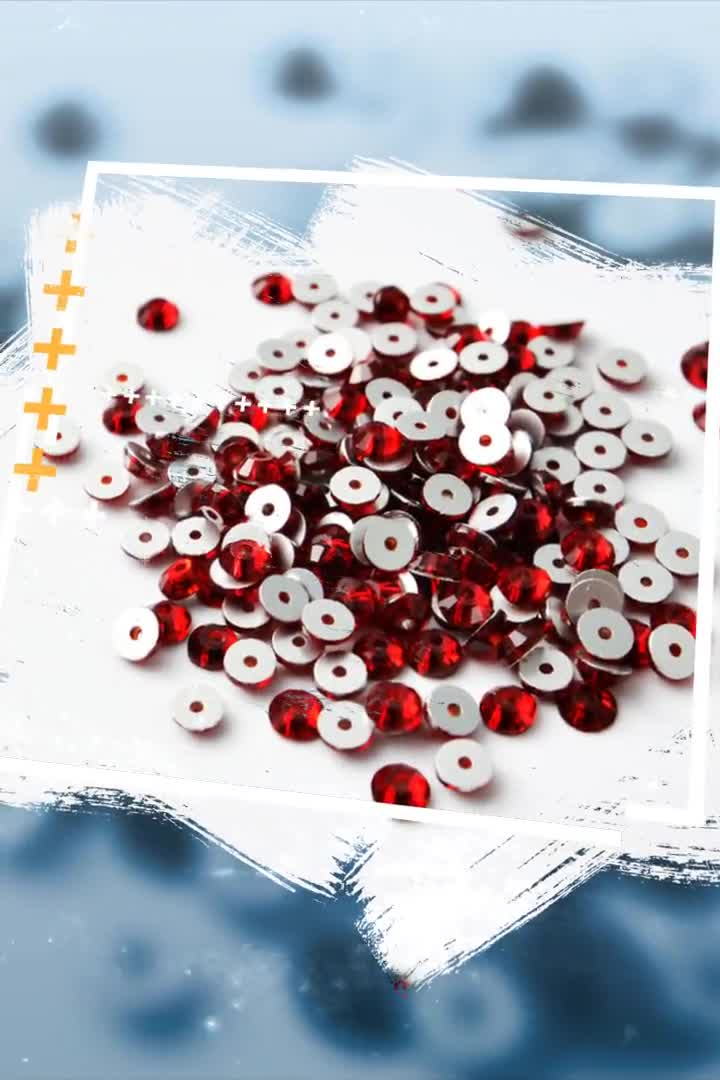 Round Shape  3mm 4mm Sew On Crystals Flat Back Rhinestone Lochrose Sequins Crystal for Clothes