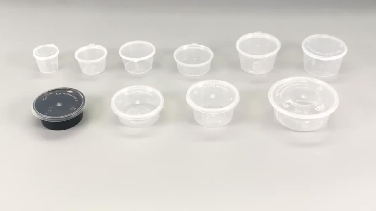 식품 학년 pp 도매 드레싱 포장 플라스틱 컵 뚜껑 도매 일회용 pp 소스 컵