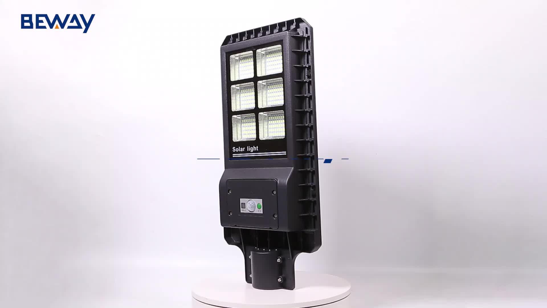 IP65 Aluminium Tahan Air Kolam 60W 120W 180W Terintegrasi Semua Dalam Satu Led Surya Lampu Jalan