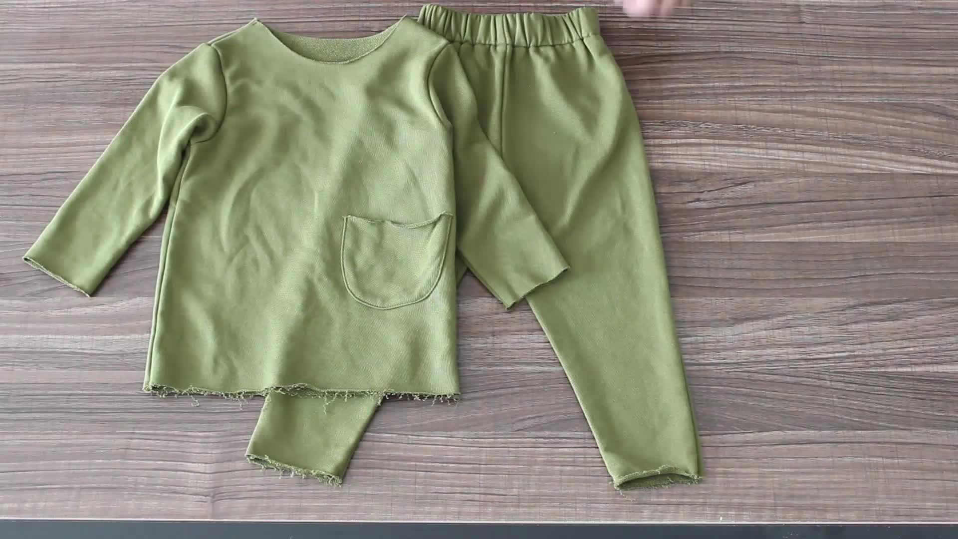 baby set care terry cotton plain clothes thick organic cotton newborn baby kids clothing sets