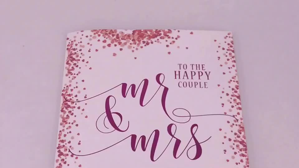 Romantic Design Musical Wedding Invitation Card