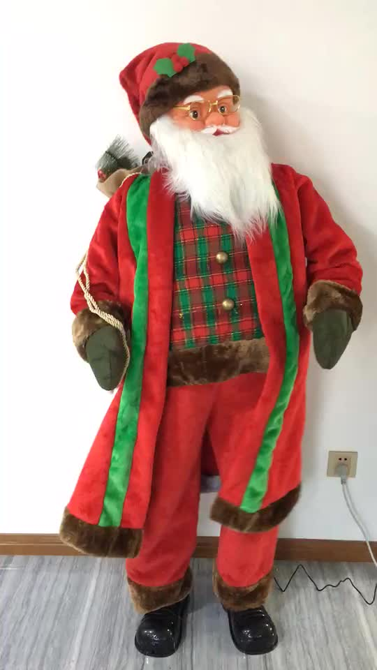 150cm Dancing Musical Father Christmas Dancing and singing Father Christmas figure with 5 songs  & Motion Sensor