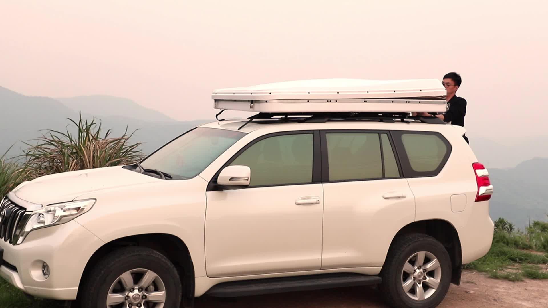 Self-driving Attrezzatura Da Campeggio Pieghevole Auto Rigida Sul Tetto Tenda per I Camion Suv di Viaggio