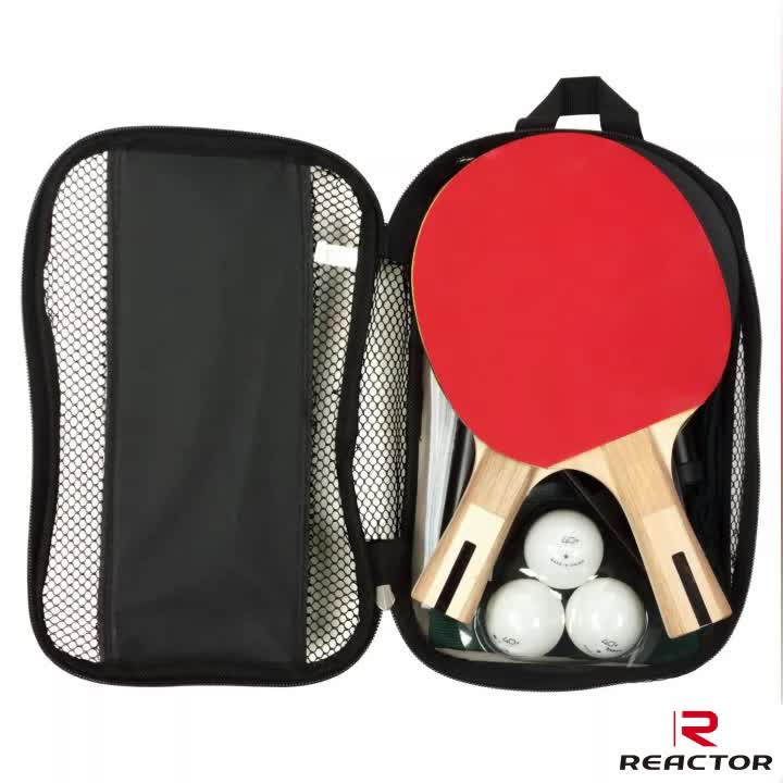 2 Pieces/Set Table Tennis Rackets PingPong Paddle Long/Short Handle Double Face Pimples-in Table Tennis Racket Rubber Balls Bag