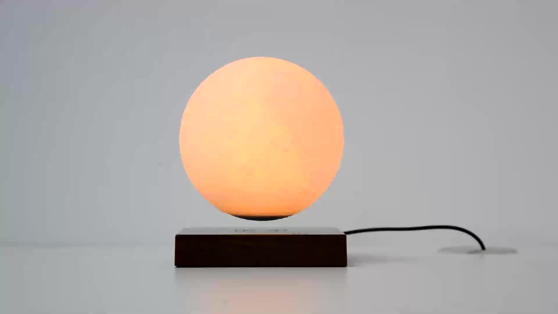 Commercio all'ingrosso Magnetic Levitating Luna Lampada A Forma di Luce di Notte Con La Rotante Elettrico 3d Stampa Galleggiante Lampada Luna