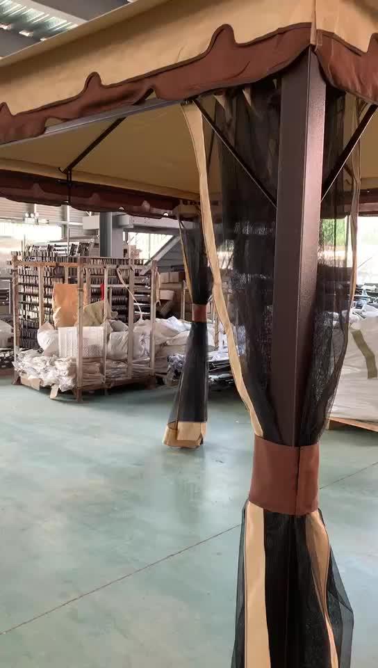Steel 3x3m metal garden gazebo