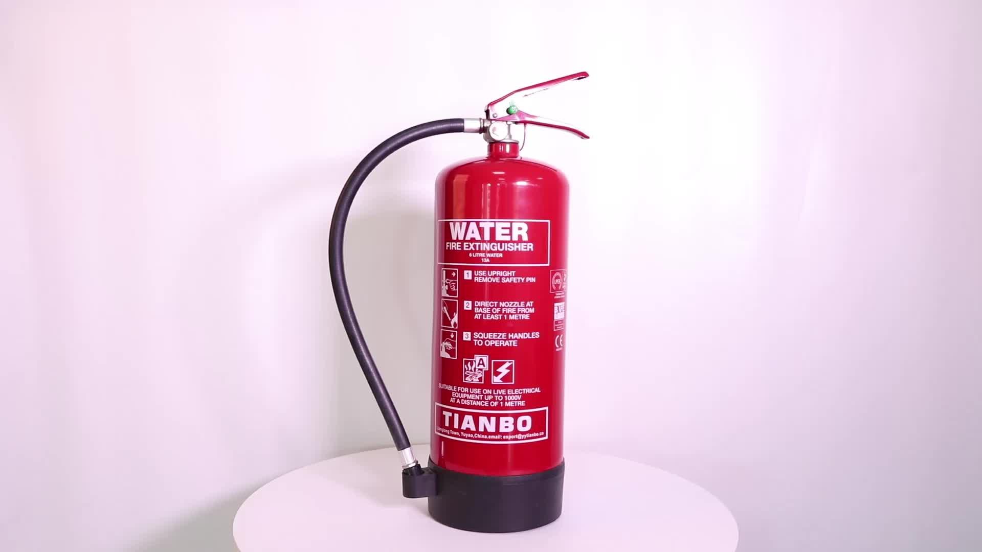 6L a base de agua aditivo extintor de fuego con CE EN3 LPCB aprobado extintor de fuego botella de agua con precio de fábrica