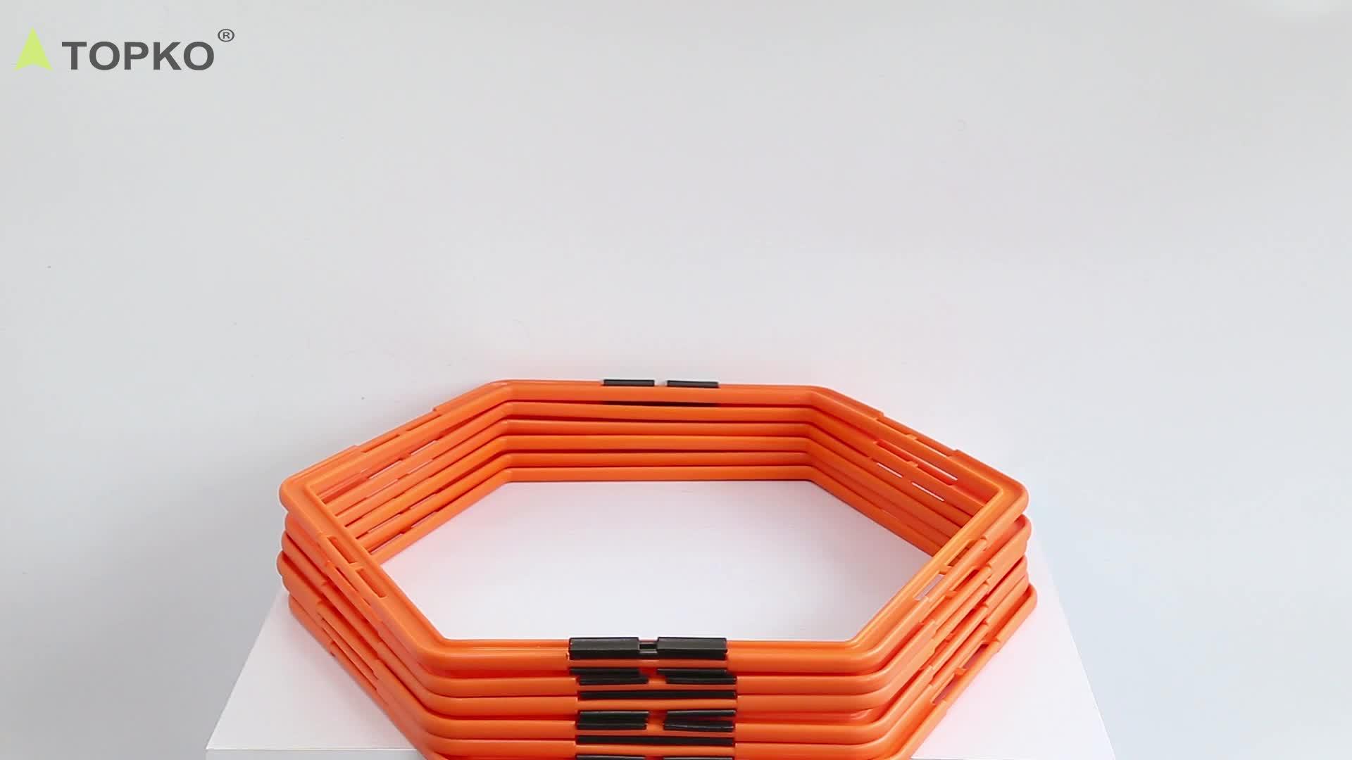 TOPKO commercio all'ingrosso private label palestra di sport attrezzature per il fitness di calcio di addestramento di velocità di trasporto eco PP nylon Agile scale