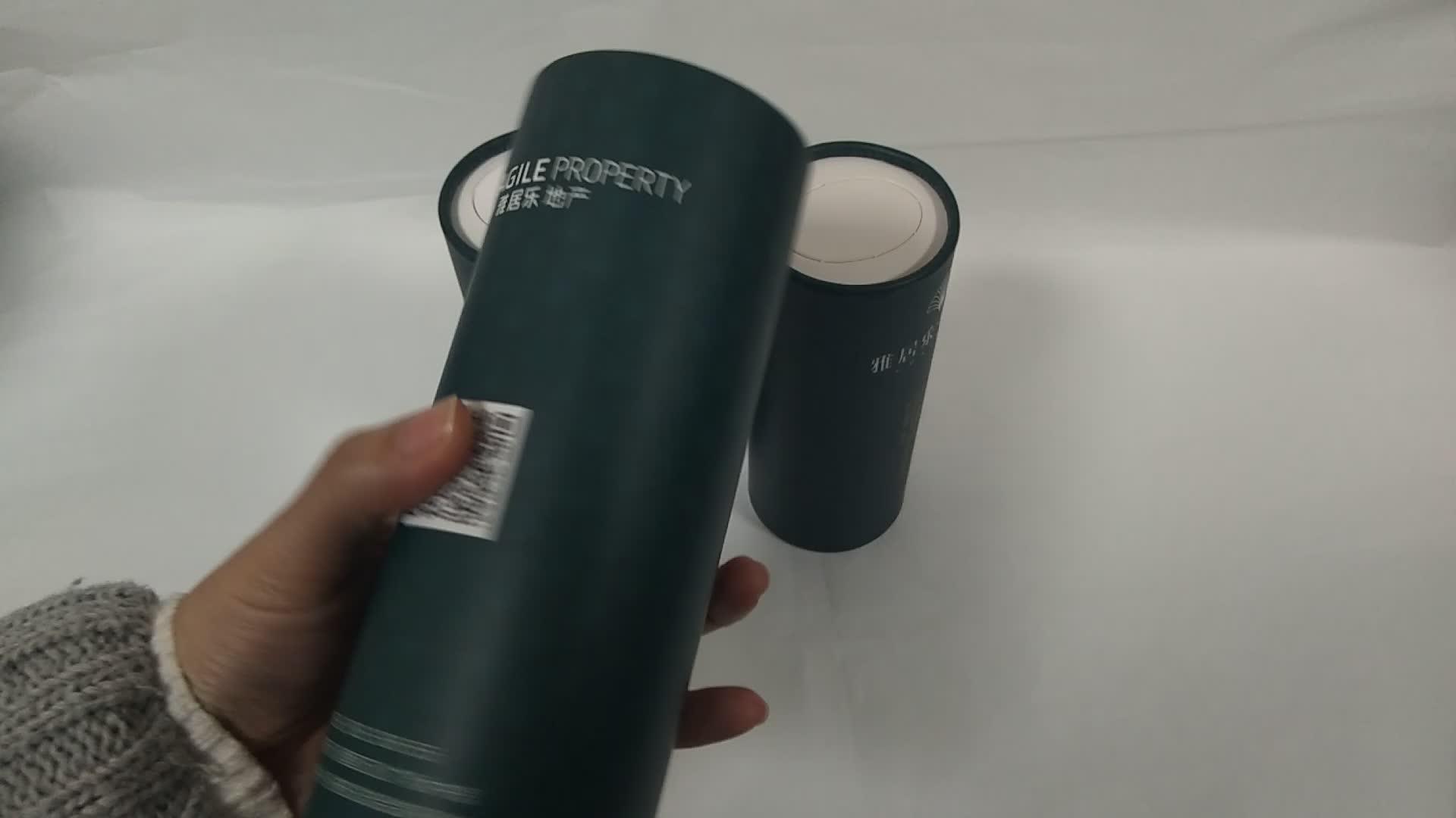 Custom round tube packaging cardboard paper cylinder tissue box