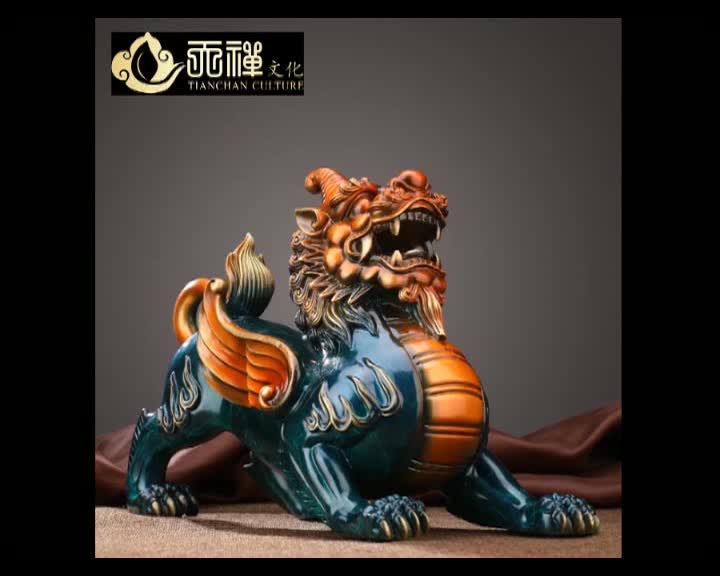 2020 new design animal Brave troops bronze mythical wild animal Pixiu statue for sale