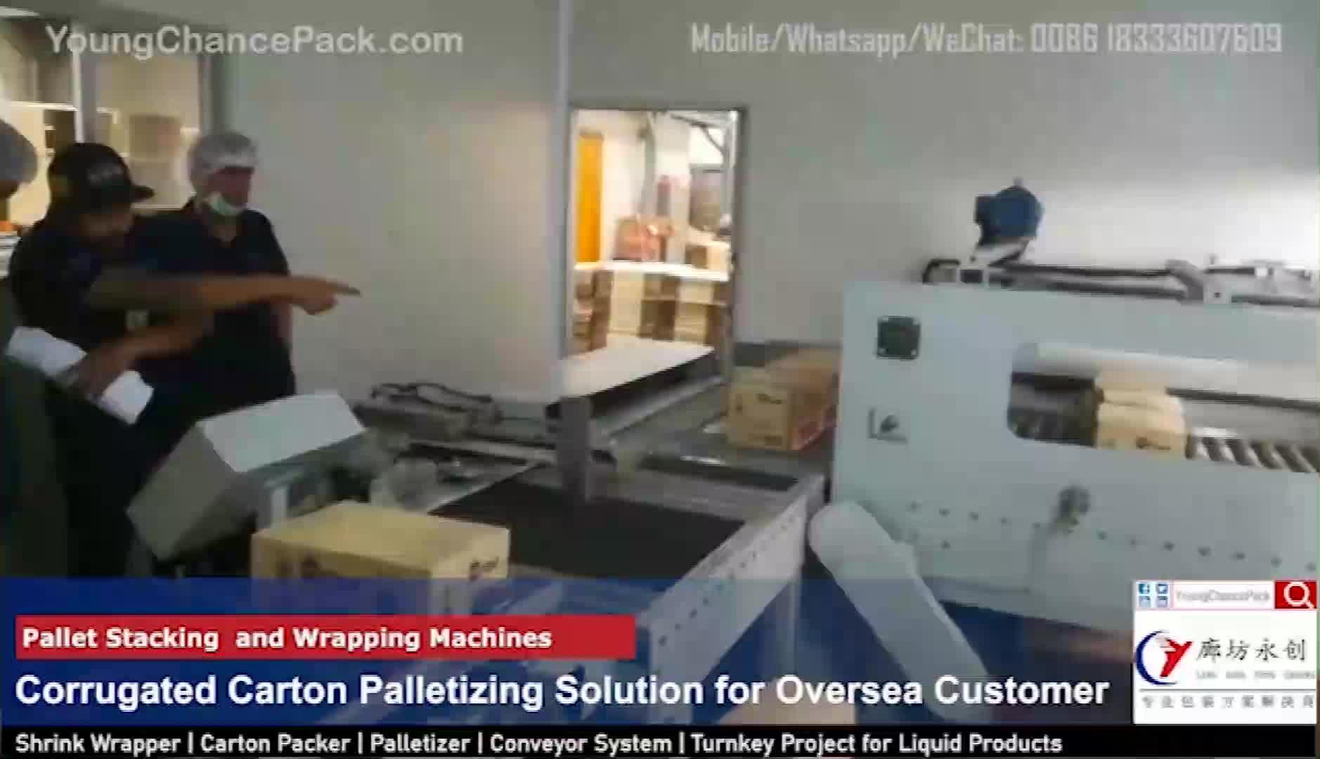 Автоматическая упаковочная машина palletizer для линии упаковки пищевых продуктов