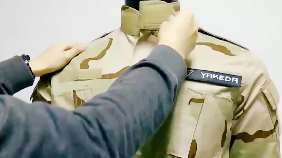 YAKEDA cheap durable riptop combat desert camouflage army military clothing tactical suit french F1 F2 uniform