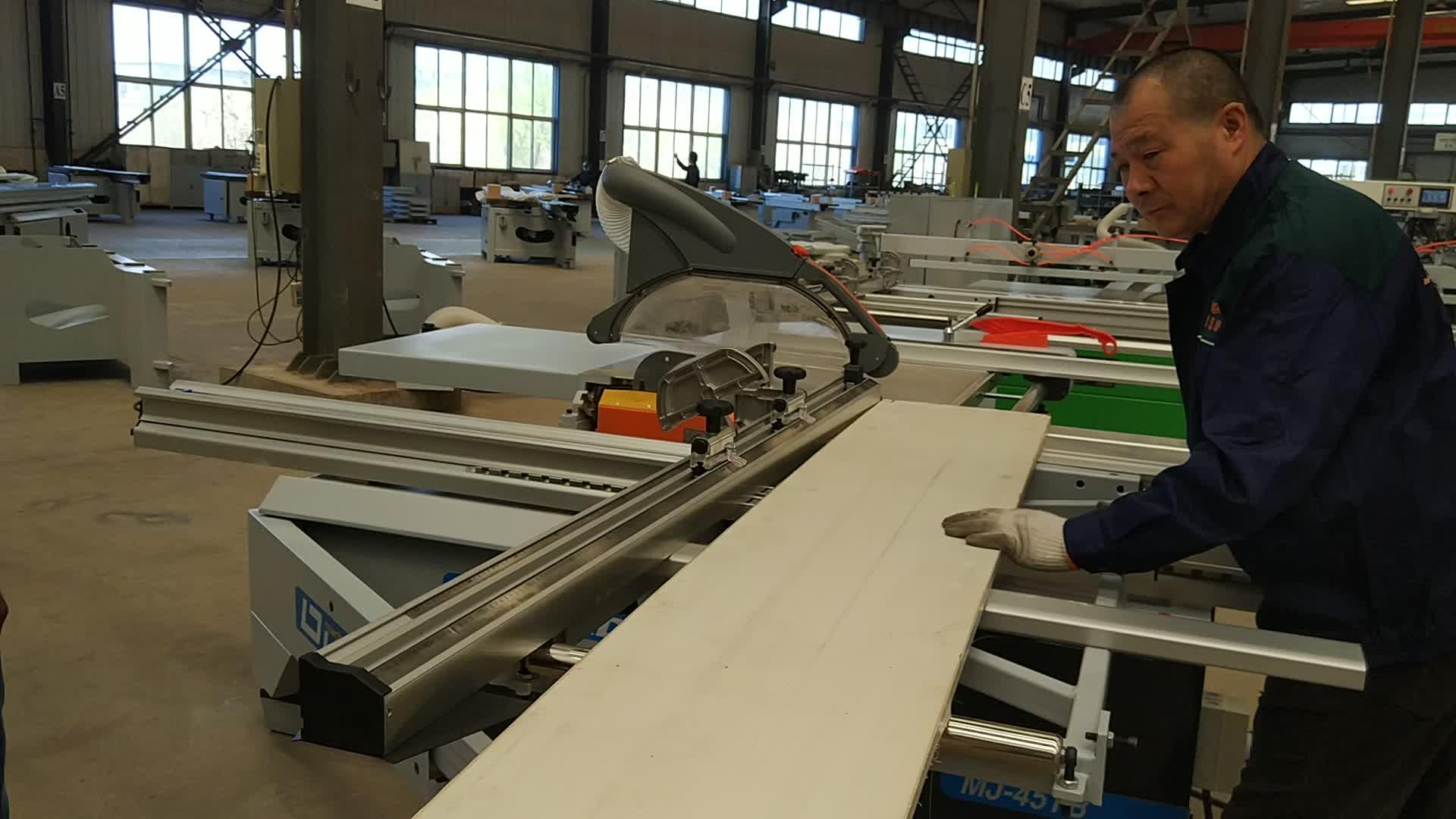 Precision woodworking sliding panel tilting saw