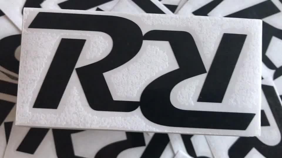 Ucuz PVC Özel Logo Cam Transferi Sticker Çıkartması toptan