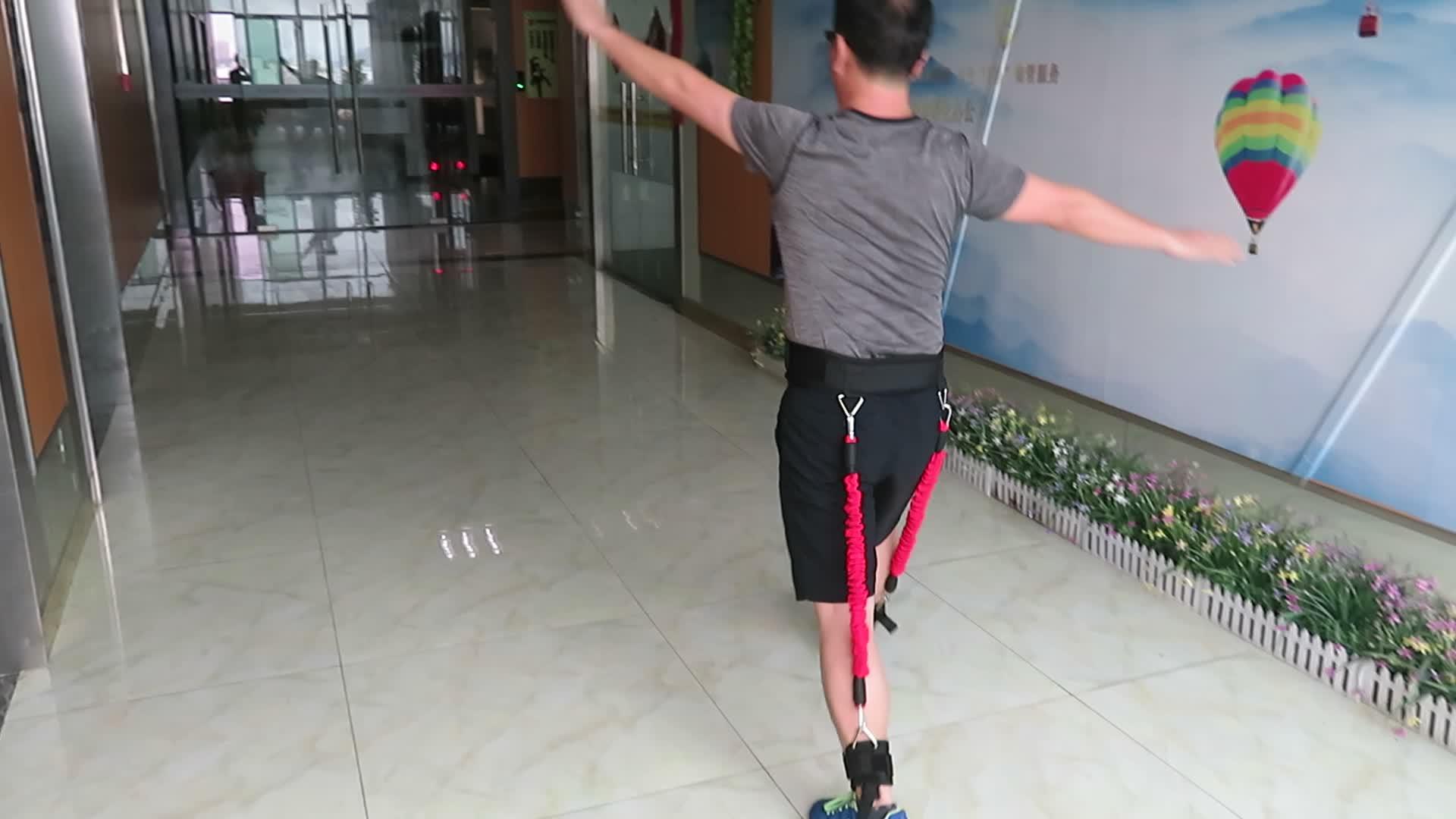Jump Trainer Bounce Trainer Leg Resistance Training Sleeved Resistance Band Belt