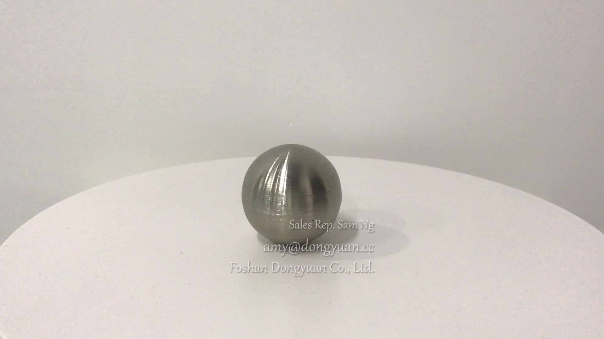 Small Stainless Steel Hollow Spheres/Balls with Matt Brushed Finish for Furniture