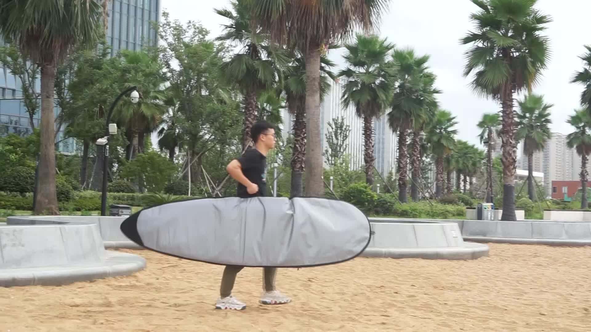 Silber farbe surfbrett typ sup bord tasche für stand up paddle board