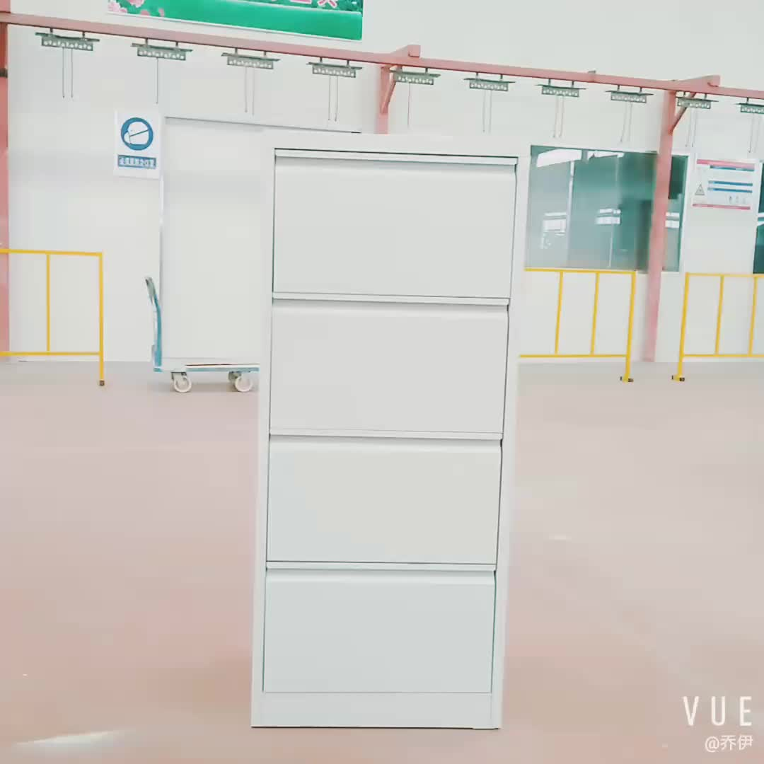 Vertical office metal filing cabinet lockable grey 4 drawer file cabinet