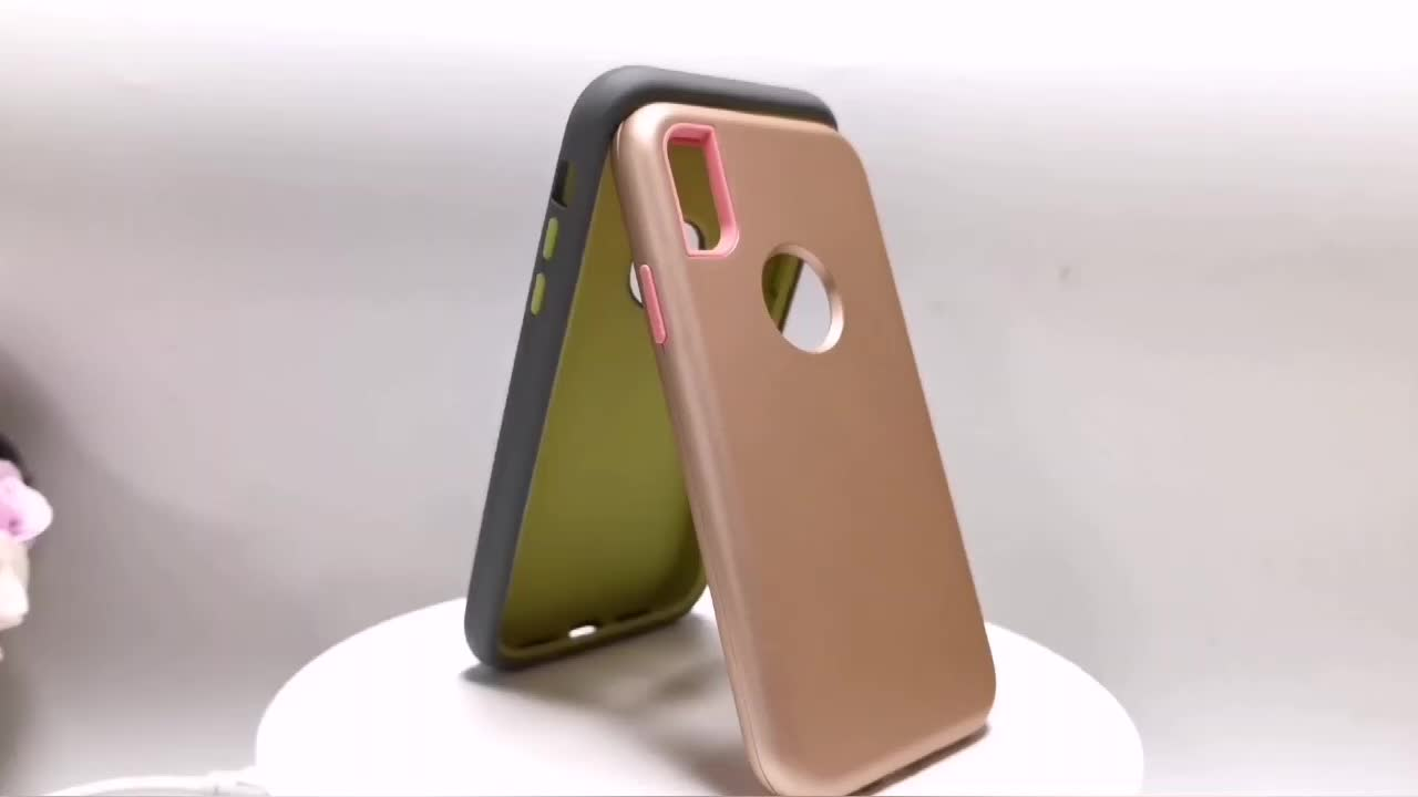 Hybrid Rubber Silicone PC Mobile Phone Case Defender 3 in 1 For Samsung Galaxy S10 Plus Rugged Tough Armor Back Cover