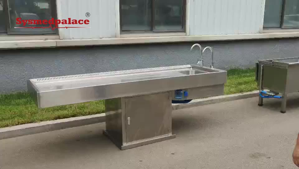 Factory 304 stainless steel lifting functional cadaver room morgue room anatomy dissection table