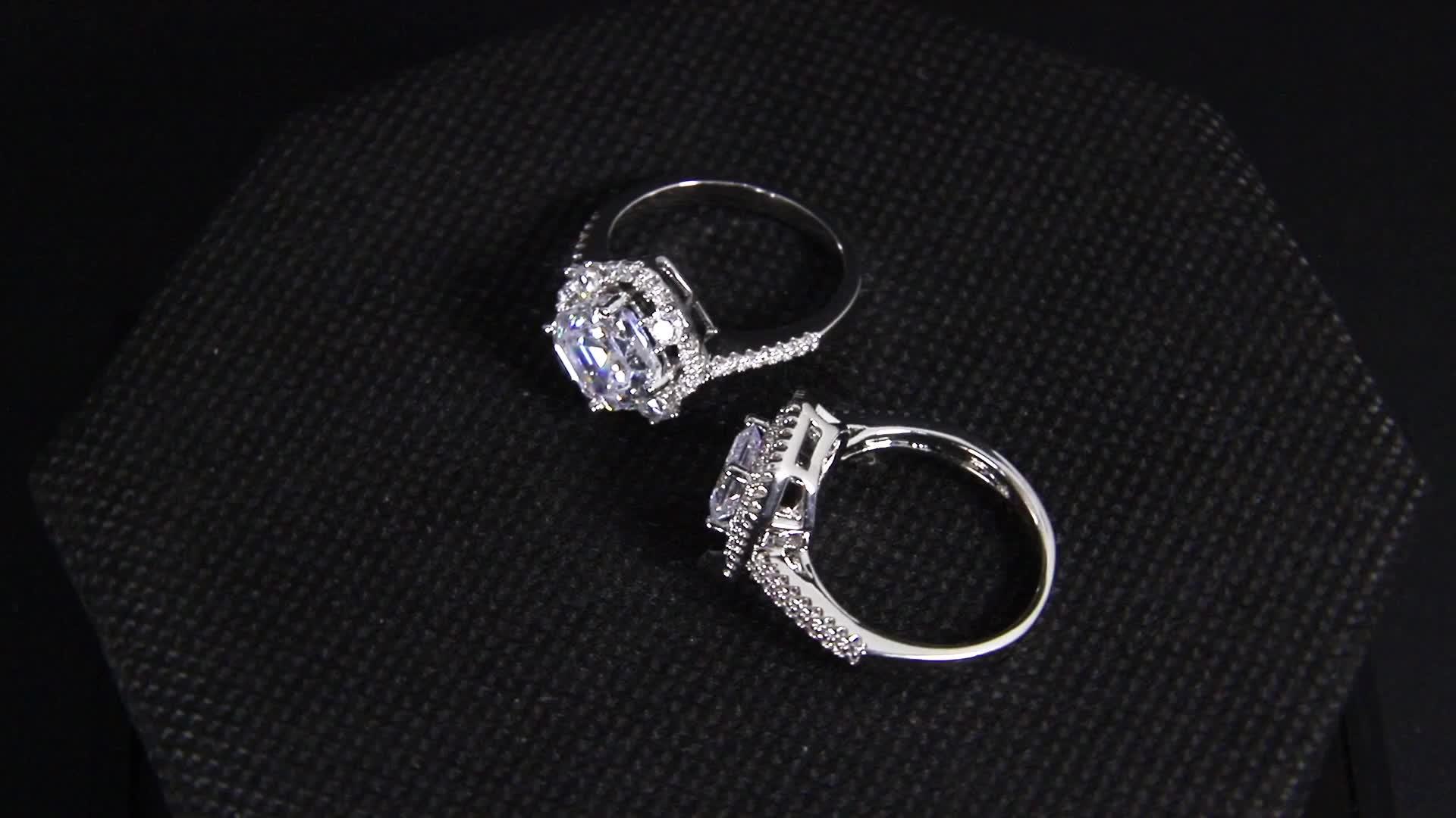 Groothandel van mode van american vergulde verharde diamanten ring, vrouw sieraden 18k gouden ring