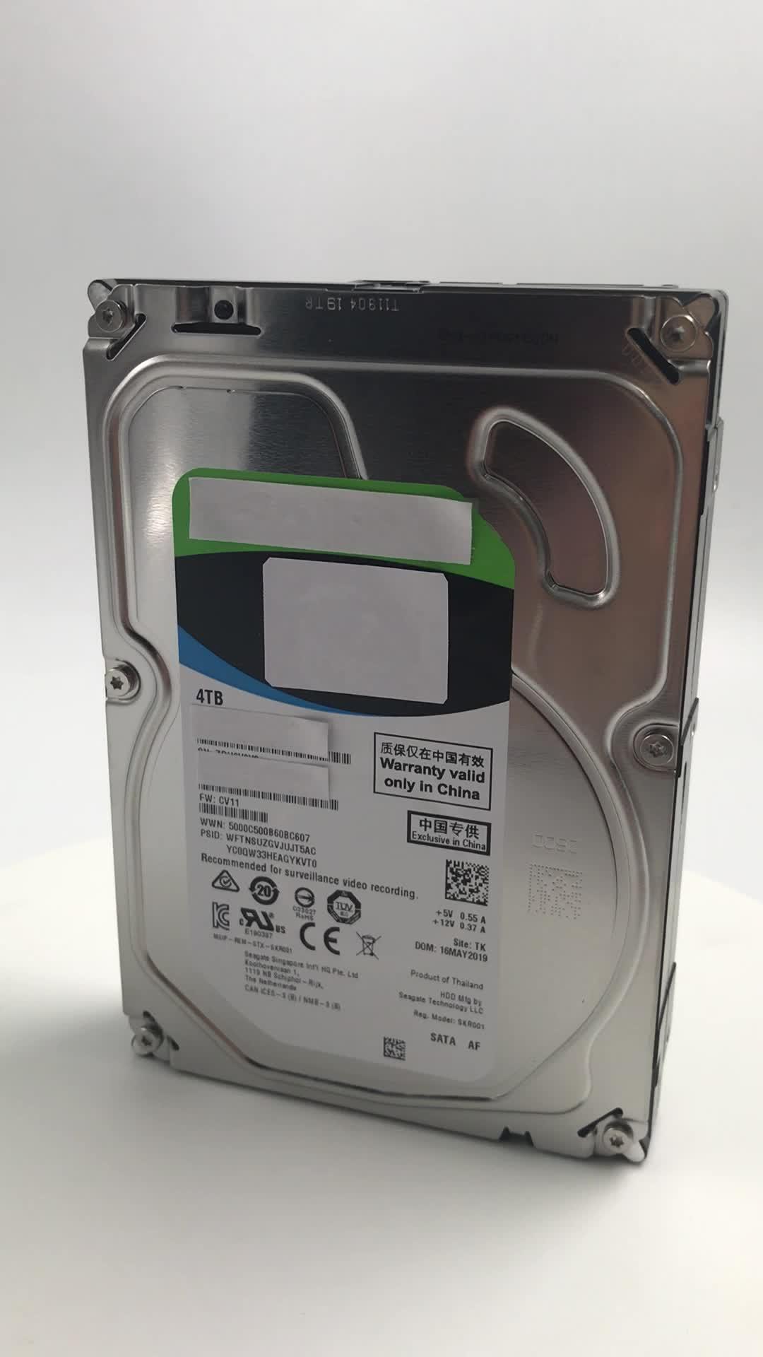 신선한 새로운 컴퓨터 하드 디스크 4 테라바이트 SATA 6 Gbps 5900 rpm 256 MB 내부 하드 드라이브 2 년 보증