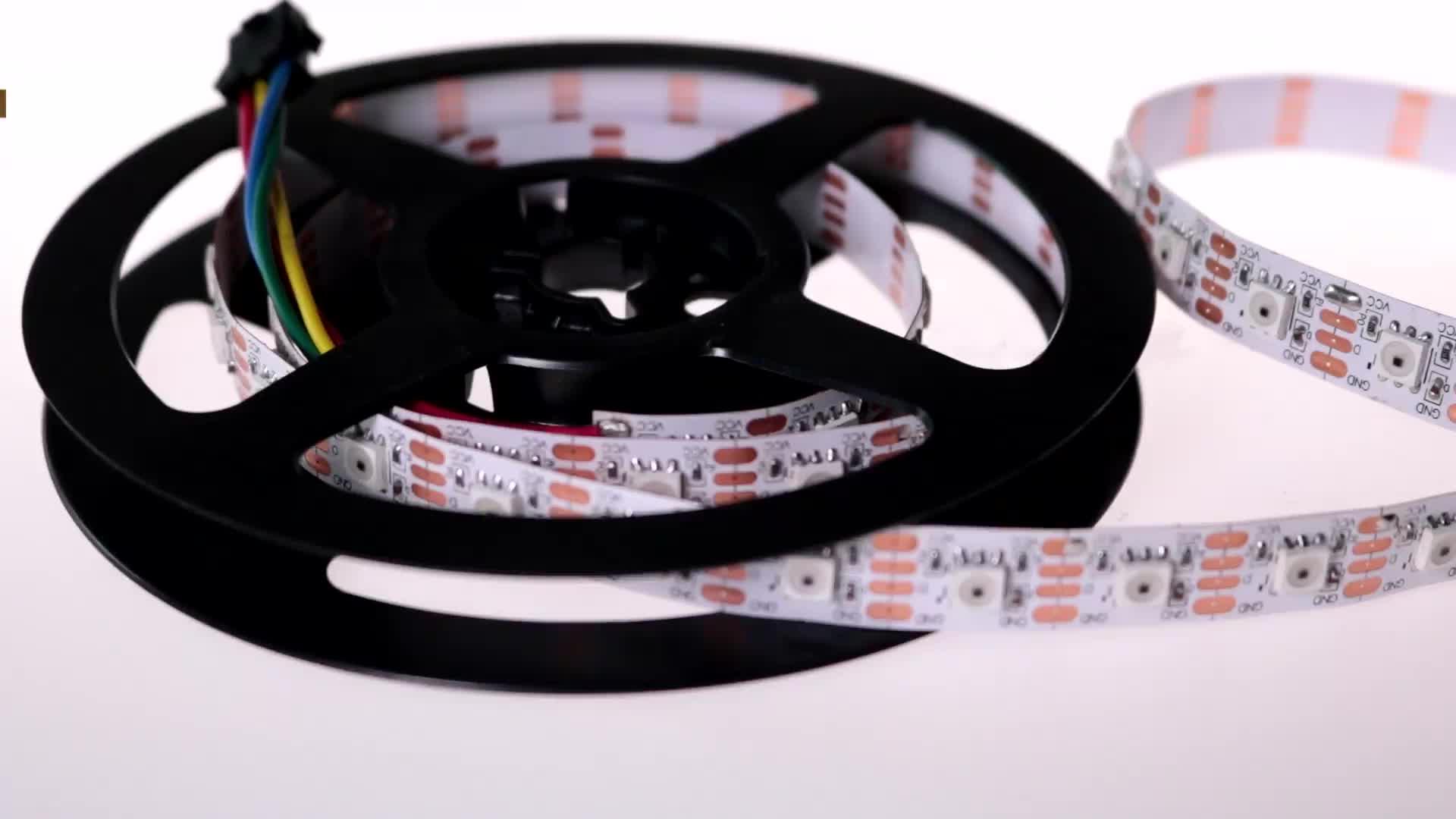 Светодио дный полосы dmx512 arduino 12 Вольт rgb 5050 светодио дный полосы света печатной платы Черный светодио дный гибкая