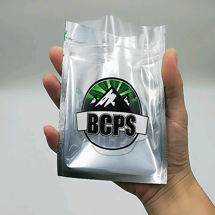 smell proof clear three side seal bag with zipper