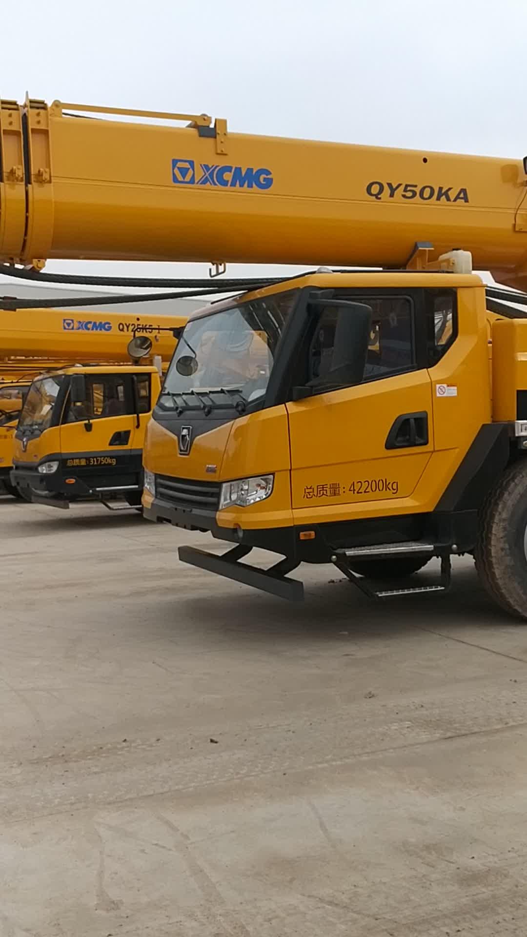 50ton hydraulische kraanwagen QY50KA met Liebherr tech