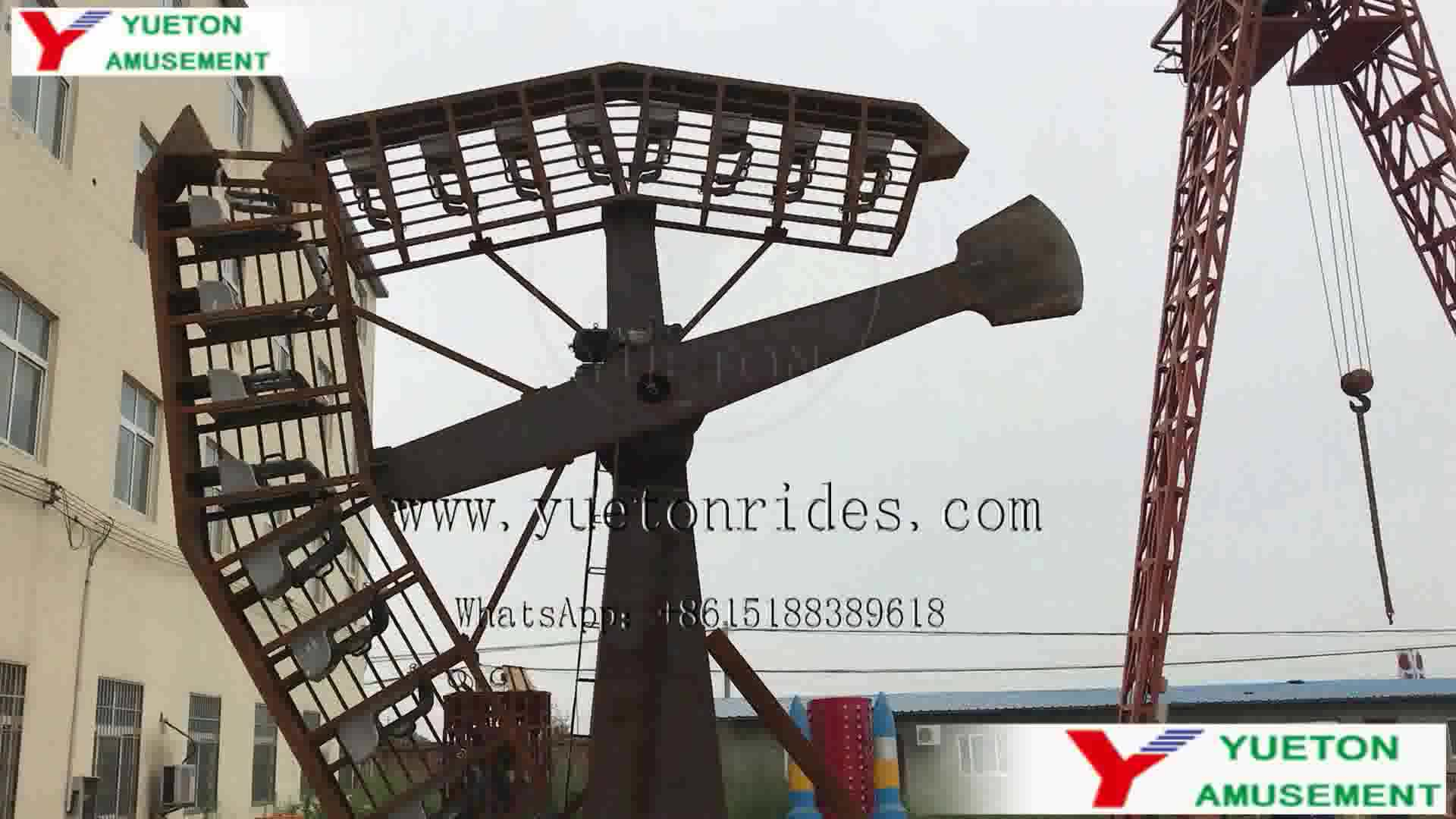 Buy Manege Fair Carnival Arm Amusement Park Thrill Rides Swing Meteor Hammer Twin Twister The Typhoon Kamikaze Ride For Sale