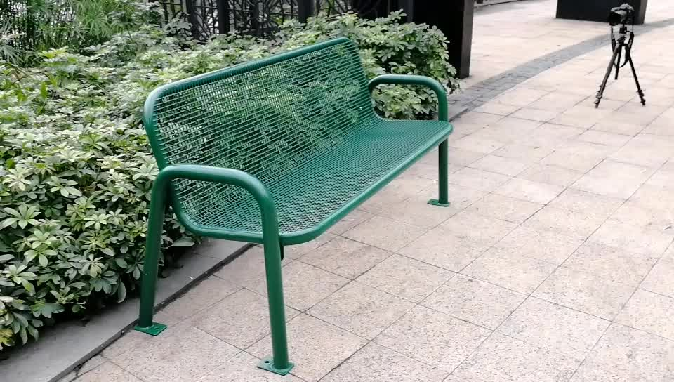 Arlau Steel Mesh Plastic Coated Wholesale Outdoor Benches