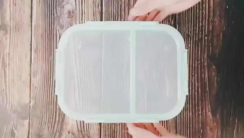Hohe borosilikat lebensmittel behälter mit 3 fach