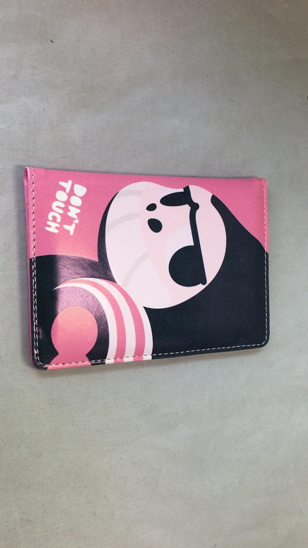 デボスロゴ革パスポートホルダートラベルパスポートカバー革パスポート財布