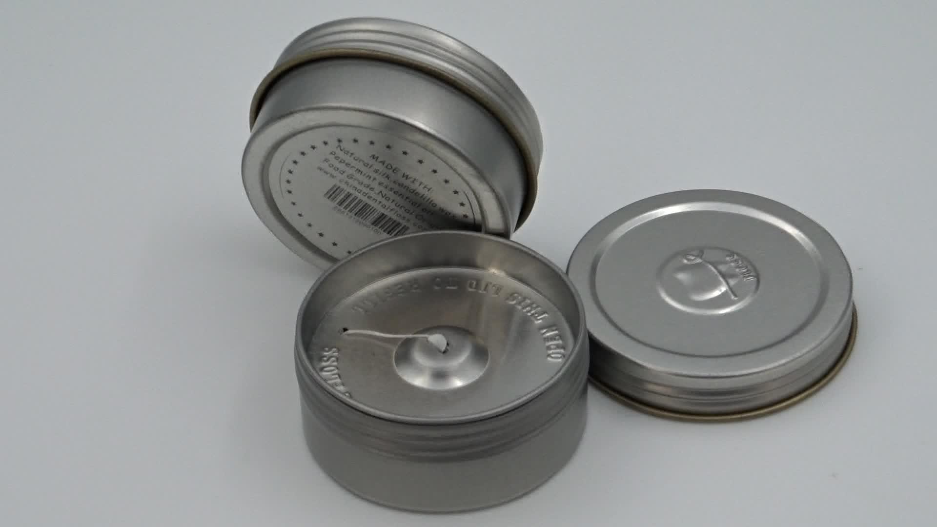100 meters 100% biodegradable silk dental floss in metal tin refillable dental floss