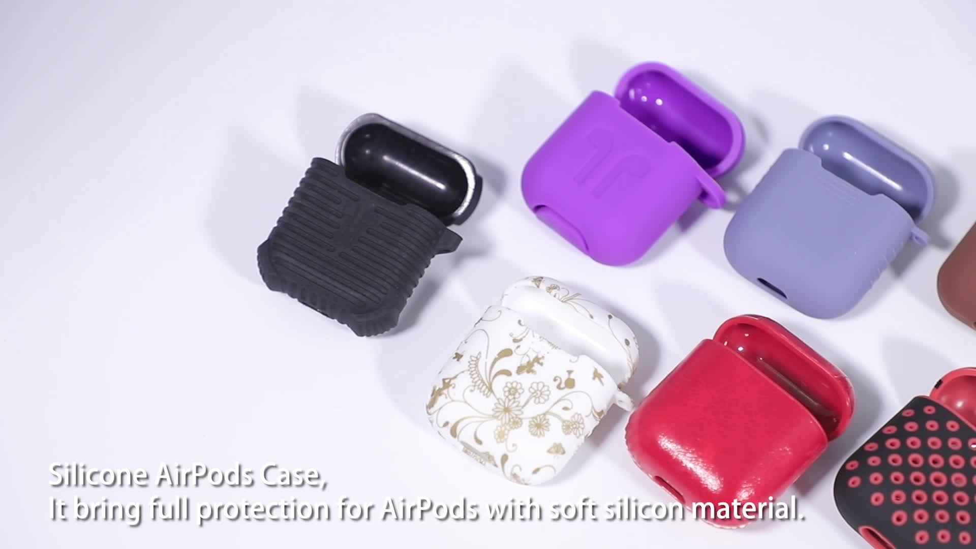 2019 सिलिकॉन एप्पल Airpods 1 और 2 के लिए एप्पल के लिए ईरफ़ोन भंडारण के मामले तरल सिलिकॉन मुलायम मामले Airpods चार्ज मामले