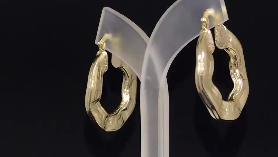 China Factory Wholesale New Design Gold Hoop Earrings