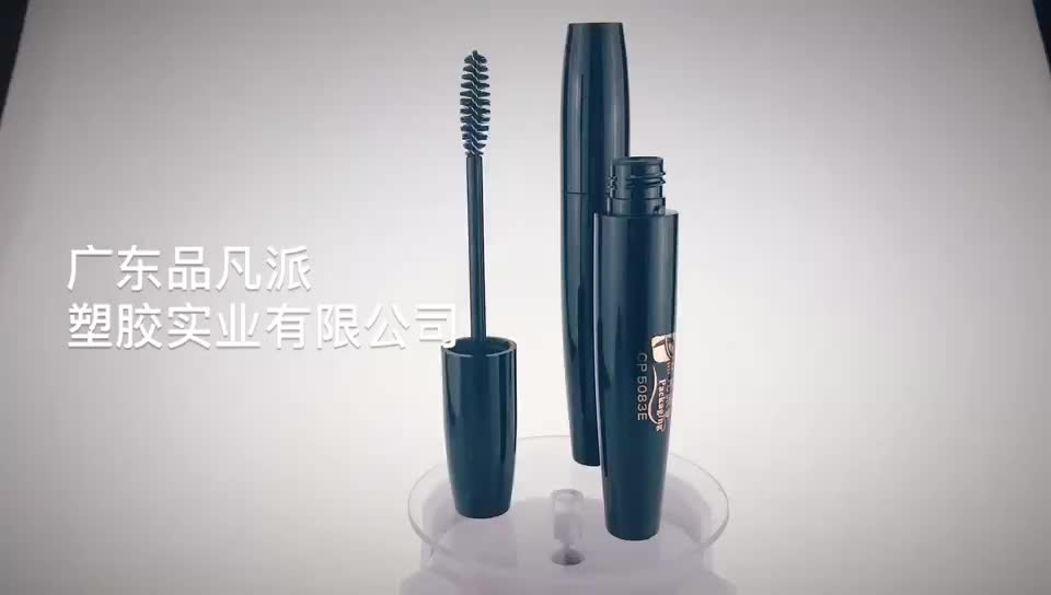 custom-logo cylinder cosmetics tube empty mascara container with brush